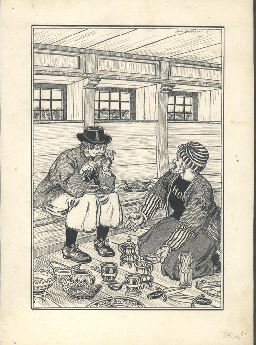 Boekillustratie van Jan Wiegman