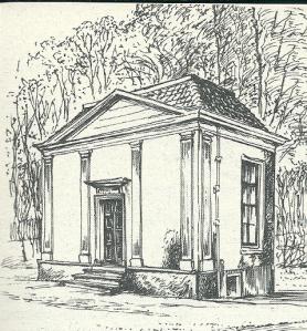 Theekoepel Groenendaal, tekening door Jan Wiegman