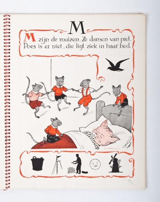 Uit ABC, een grappig alfabet; door Jan Wiegman. Haarlem/Antwerpen, De Sleutel, 1949.