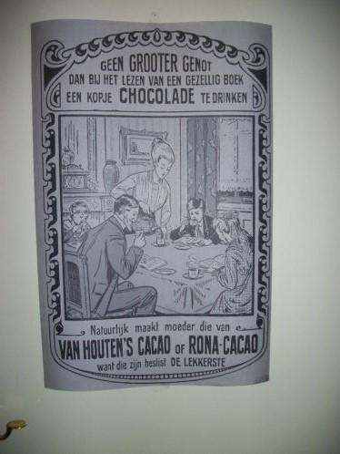 Reclameposter Jan Wiegman voor Van Houten's cacao