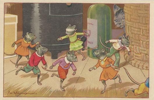 Jan Wiegman: kat en verklede muizen