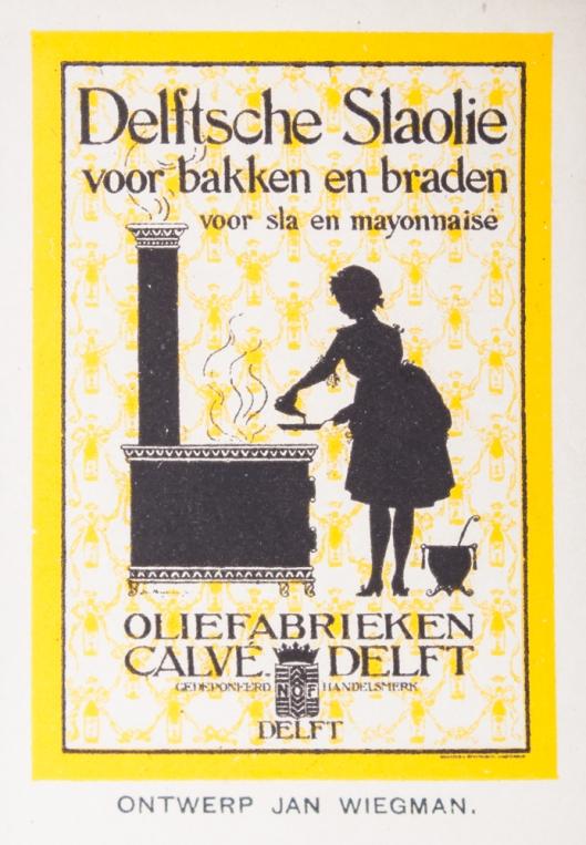 Recameplaat voor Calvé Delft van Jan Wiegman