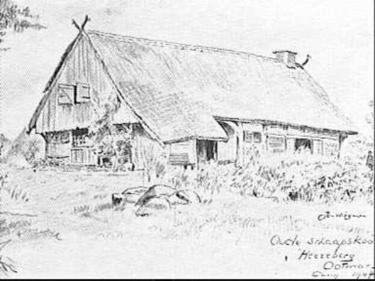 Jan Wiegman: boerderij Ootmarsum 1947