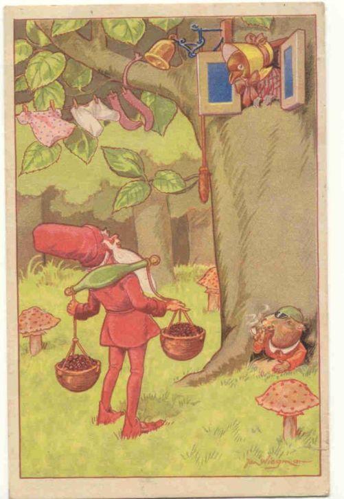Kabouterkaart van Jan Wiegman