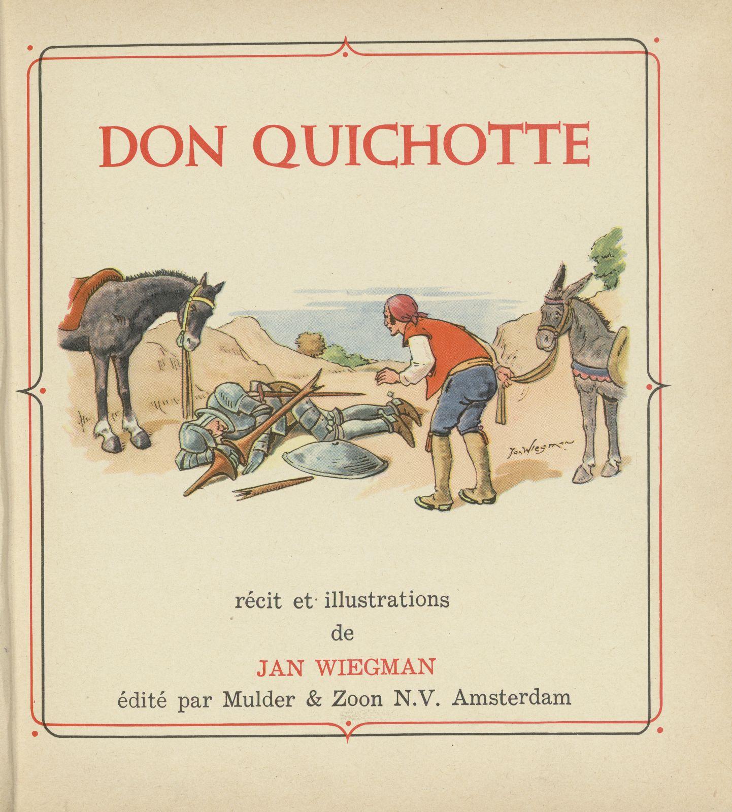 Jan Wiegman. Don Quichotte