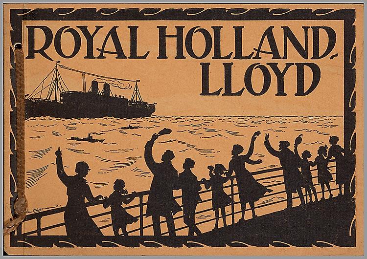 Reclameplaat voor Royal Holland Lloyd door Jan Wiegman