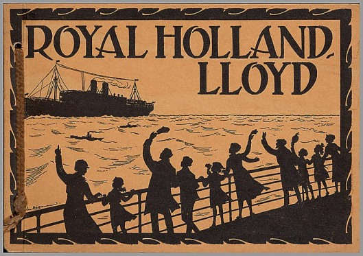 Reclameplaat voor Royal Holland Lloyd door Jan Wiegman