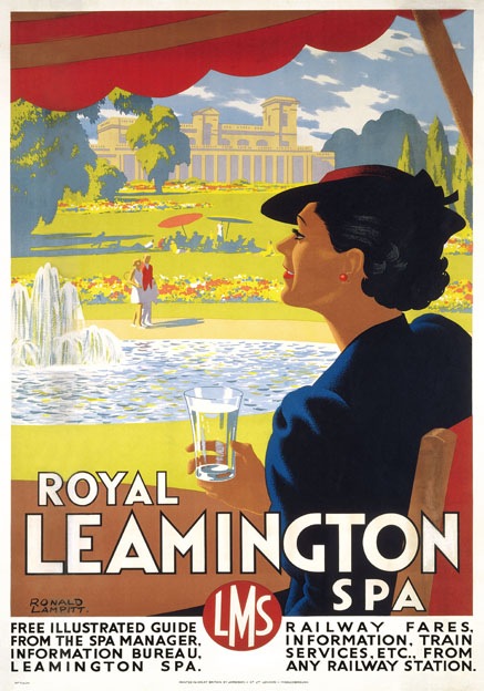 Affiche met reclame voor Royal Leamington Spa uit 1937