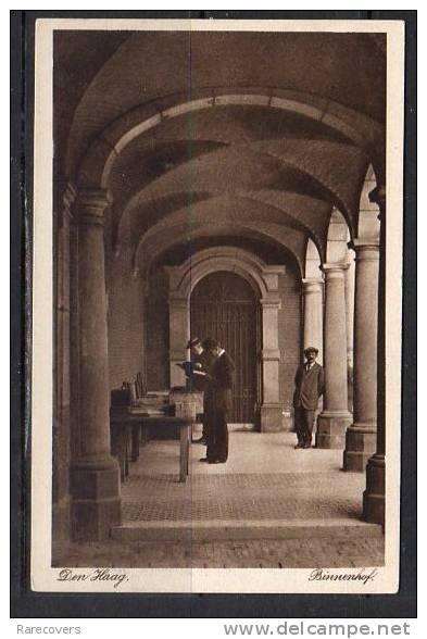 Ansichtkaart van boekenmarkt op het Binnenhof