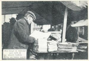 Een 'boekenjood' op een oude kaart, uitgegeven door Louis Diefenthal
