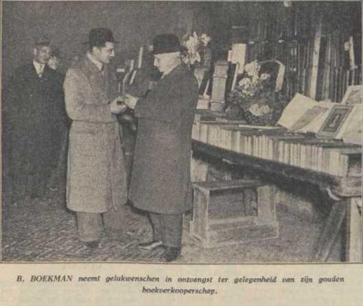 Barend Boekman een halve eeuw boekverkoper in de Oudemanhuispoort (1939)
