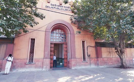 Entree van de Delhi Public Library