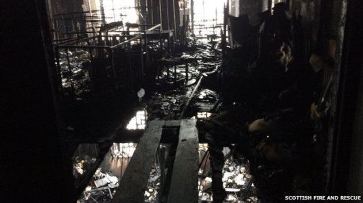 De Mackintosh bibliotheek na de brand