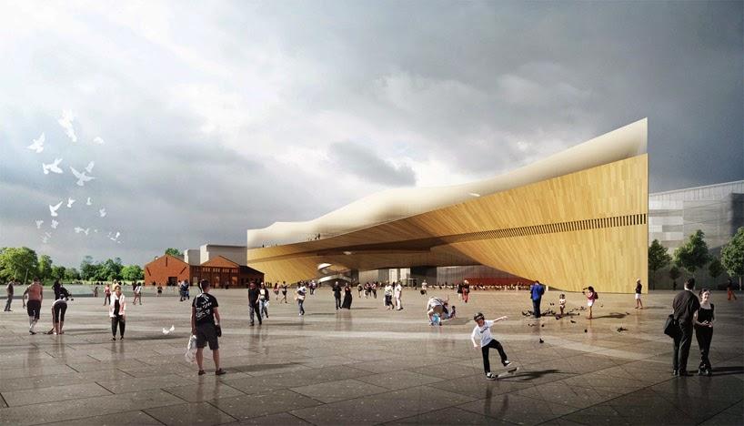 Ontwerp voor de nieuwe centrale stadsbibliotheek van Helsinki (DesignBoom)