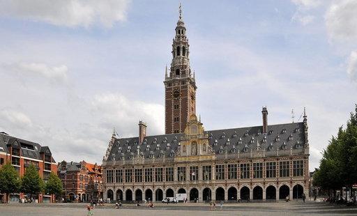 De bibliotheektoren bepaalt de skyline van Leuven