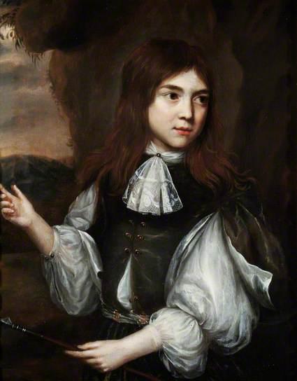 Jongen met speer. Schilderij uit de kring van Nicolaes Maes (1634-1693). Art Gallery & Museum Royal Leamington Spa