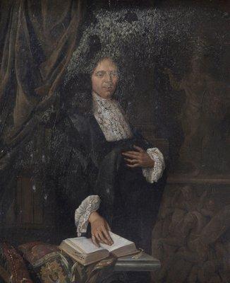 Portret van een onbekende geleerde. Toegeschreven aan en kunstenaar uit de Leidse School, circa 1675-1685