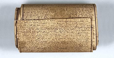 Manuscript van markies de Sade in de Bastille geschreven