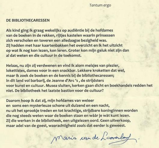 'De bibliothecaressen' door Maria van de Looverbosch, Houten (2010)