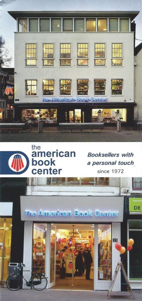 Voorzijde folder van American Book Shop