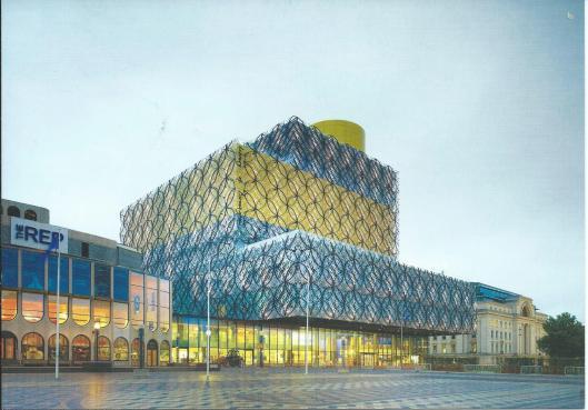 Voorzijde van de nieuwe bibliotheek van Birmingham