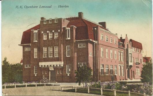 De eerste huisvesting van de r.k.openbare leeszaal in Heerlen
