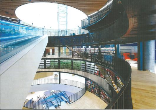 Interieurfoto van de bibliotheek Birmingham