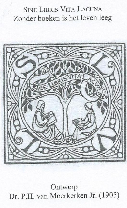 Uitgeversvignet en naamspreuk van S.L.van Looy, Amsterdam, ontworpen door P.H.van Moerkerken in 1905