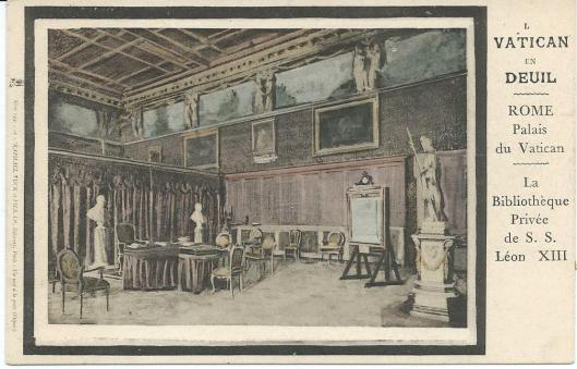 Privébibliotheek van het Vaticaan tijdens het pontificaat van paus Leo XIII