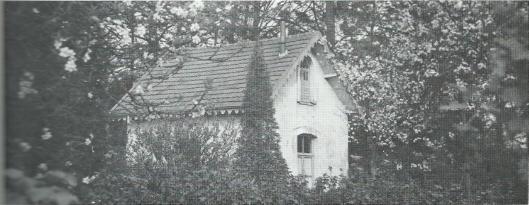 Het afgebroken portiershuisje waar Jan Hanlo de laatste 11 jaar van zijn leven woonde