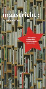 Voorzijde van de  folder Maastricht: boekenstad