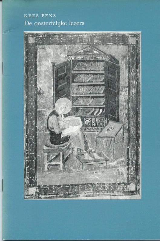 Voorzijde van een voordracht van Kees Fens: 'De onsterfelijke lezers', 14 februari 1984 gehouden in de Janskerk te Utrecht bij de herdenking van het 400-jarig bestaan van de Utrechtse universiteitsbibliotheek