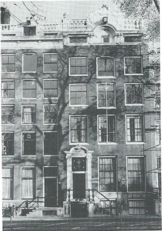 Keizersgracht 223-225, 'De Koopermoole' waar de Bibliotheek- en Documentatieschool, later Frederik Muller Academie, was gehuisvest