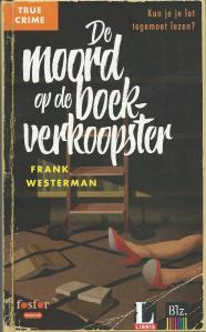 Voorzijde van crimeboek 'De moord van de boekverkoopster' door Frank Westerkamp