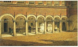 Boekenkramen op het Binnenhof. Schilderij van J.C.K.Klinkenberg (1851-1924) (Mesdag Museum)