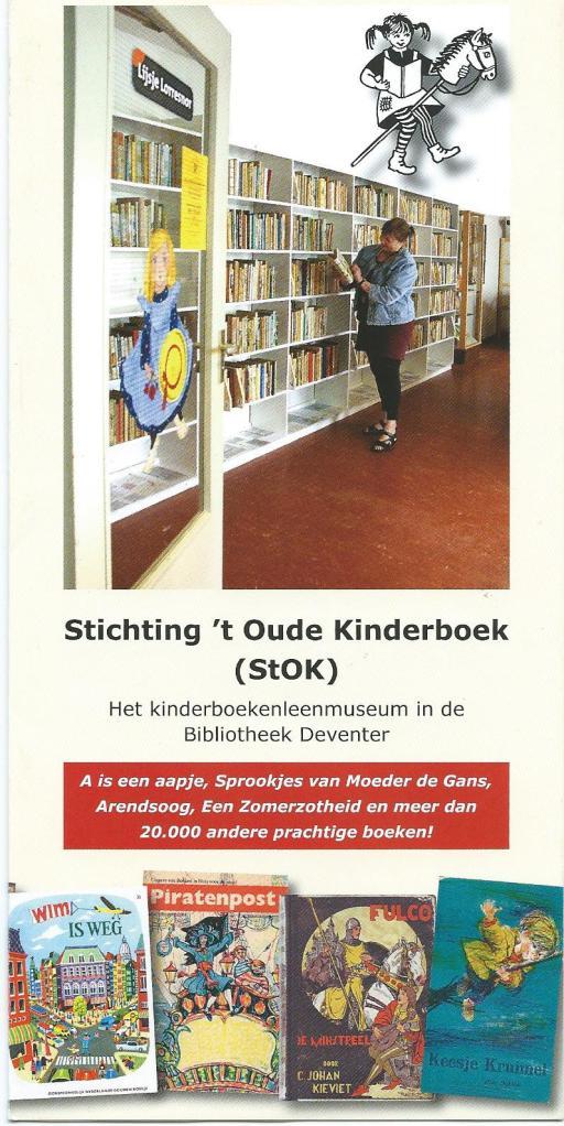 Vooromslag van folder: Stichting in 't Oude Kinderboek in Deventer