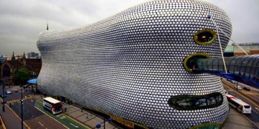 Buitenaanzicht van het warenhuis Selfridges in Birmingham
