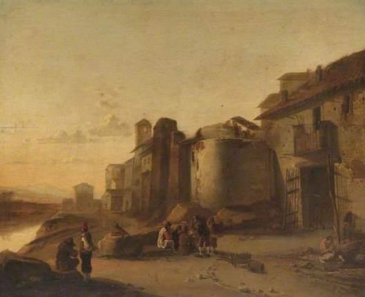 Gezicht op de Tiber nabij de Ripa Grande, Rome Naar Jan de Both (1608-1652). 17e eeuw. Art Gallery & Museum, Royal Leamington Spa