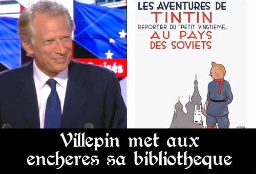 Tot op heden heeft De Villepin met 2 van de 3 veilingen al voor 2,3 miljoen euro aan boeken en documenten geveild bij