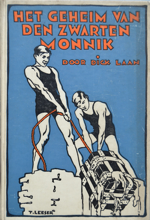 Dick Laan: het geheim van den zwarten monnik. 1e druk 1930. Geïllustreerd door T.Leeser