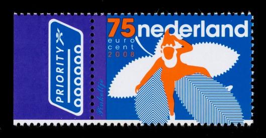 Postzegel Nederland 2008 Nederlandse 'kabouter' Pinkeltje, ontwerp van Dennis Koot.