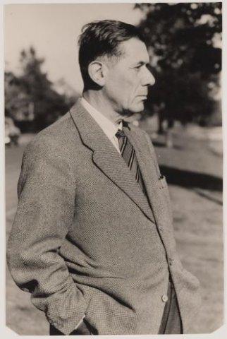 Dick Laan aan de Wagnerkade in Heemstede, 1940