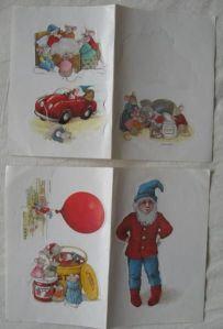 Stickers met afbeelding van Pinkeltje, uitgegeven door damesblad Libelle dat ook de verhalen in het tijdschrift evenals in boekvorm publiceerde