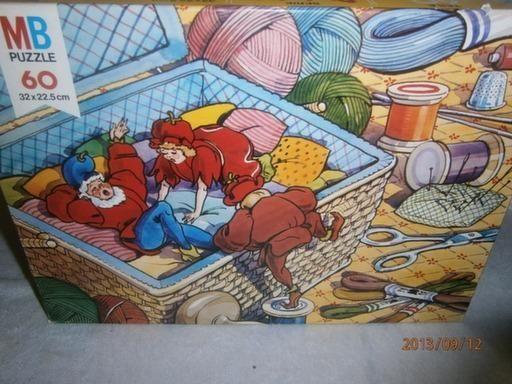 Een van de 7 door MB uitgegeven legpuzzels met Pinkeltje-motief