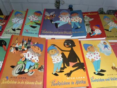 Een serie Duitse Pinkeltje-boeken van Dick Laan