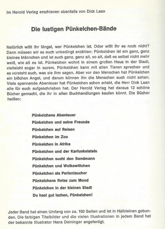 Een overzicht van in de Duitse taal verschenen Pinkeltje boeken. In totaal zijn 23 titels in het Duits vertaald en uitgegeven.