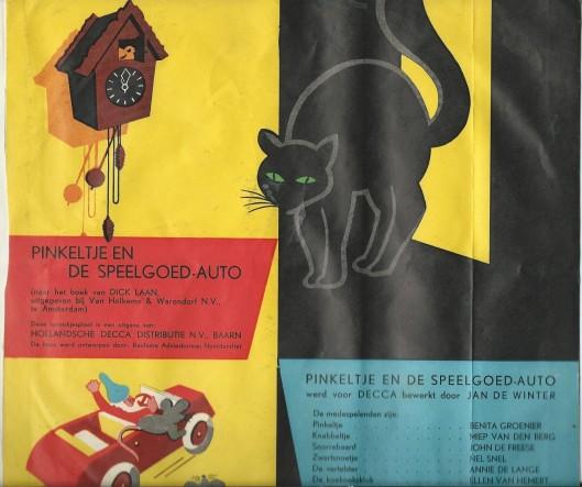 Pinkeltje en de speelgoedauto naar het boek van Dick Laan, bewerkt door Jan de Winter. Uitgegeven door DECCA