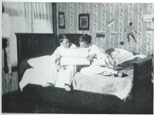 Het interieur van de kamer van de jongens uit de film: De droom van een H.F.C-ertje