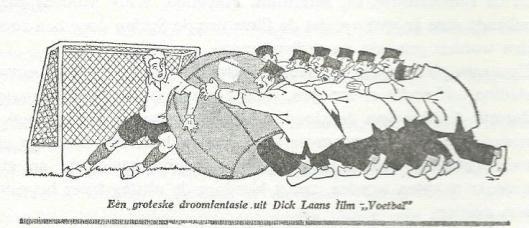 Tekening van L.J.Jordaan in De Haagse Post n.a.v. Dick Laans film 'Voetbal', 1929