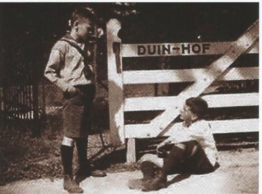 Foto uit'De droom van een Kennemer padvindertje, genomen bij Duinhof, Duin en Daalseweg.